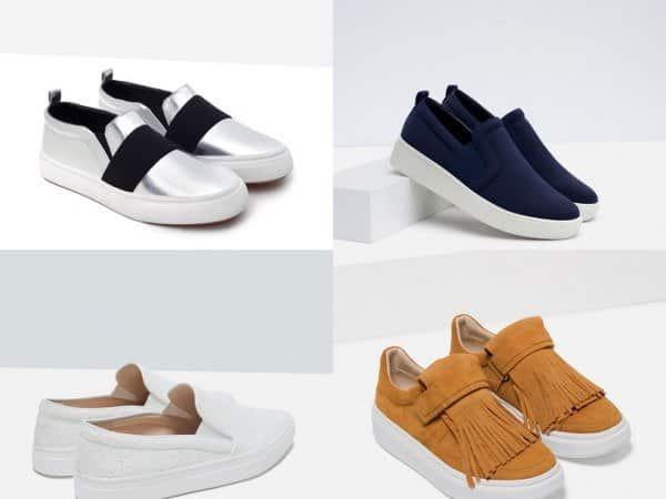 Las zapatillas conquistan los estilos chic urbanos Zara