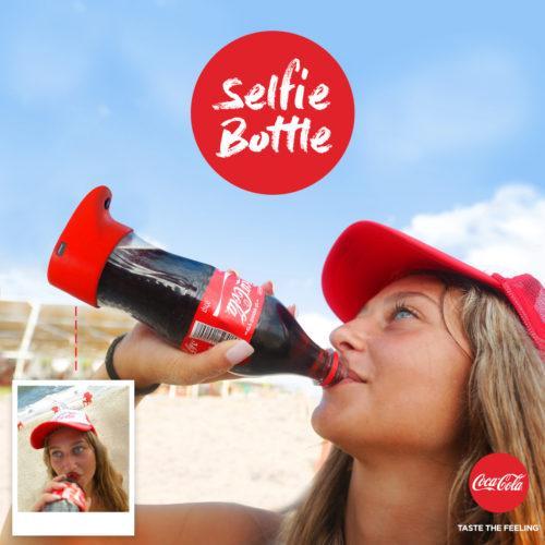 Hazte selfies con una botella de CocaCola