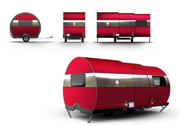 BeauEr 3X Diseño exterior rojo