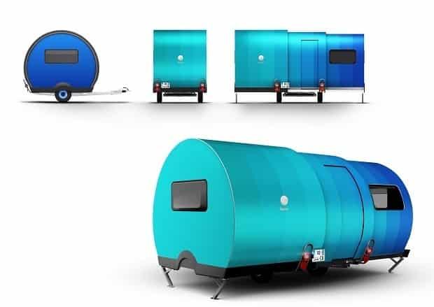 BeauEr 3X Diseño exterior azul